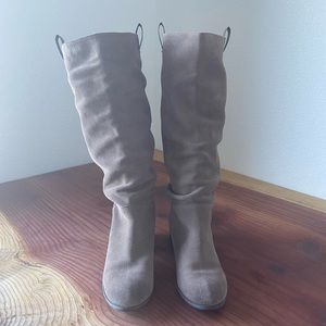 Nordstroms Brass Plum BP gen leather slouch boots